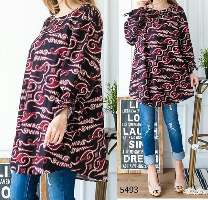 Model Baju Atasan Wanita Batik Ukuran Jumbo Terbaru