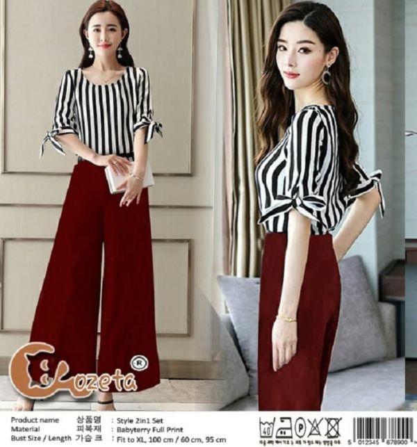 Setelan Baju Celana Kulot Wanita Model Terbaru