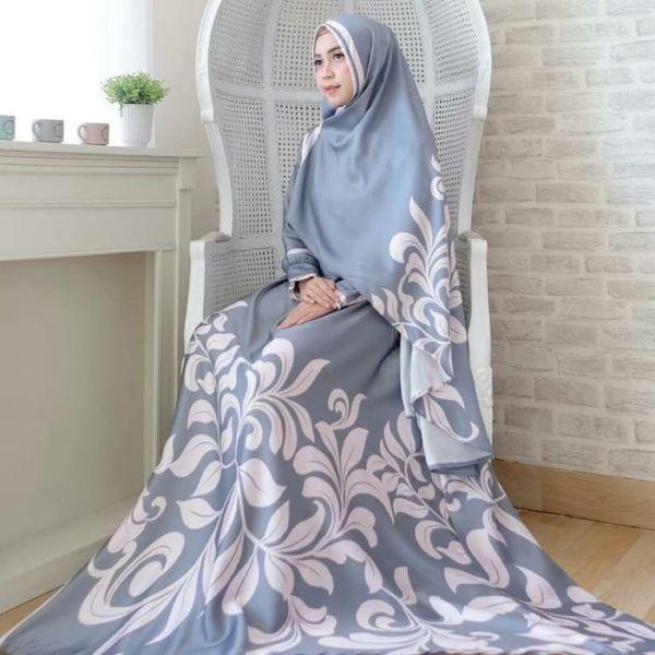 Setelan Baju Gamis Syari Bahan Maxmara Motif Modern