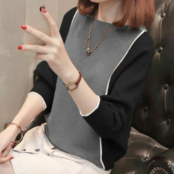 Baju Atasan Wanita Bahan Rajut Model Batwing