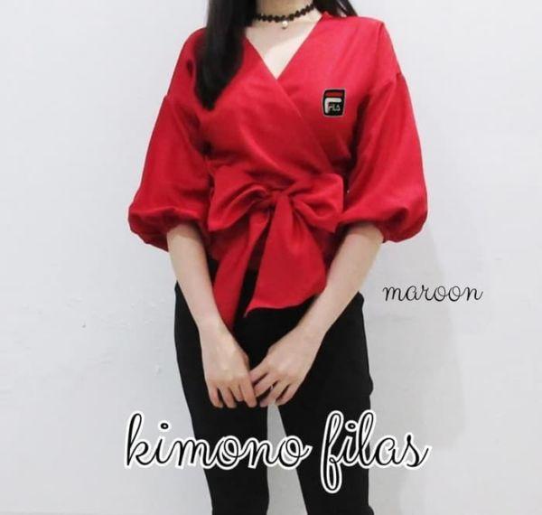 Baju Atasan Wanita Model Kimono Modis Terbaru