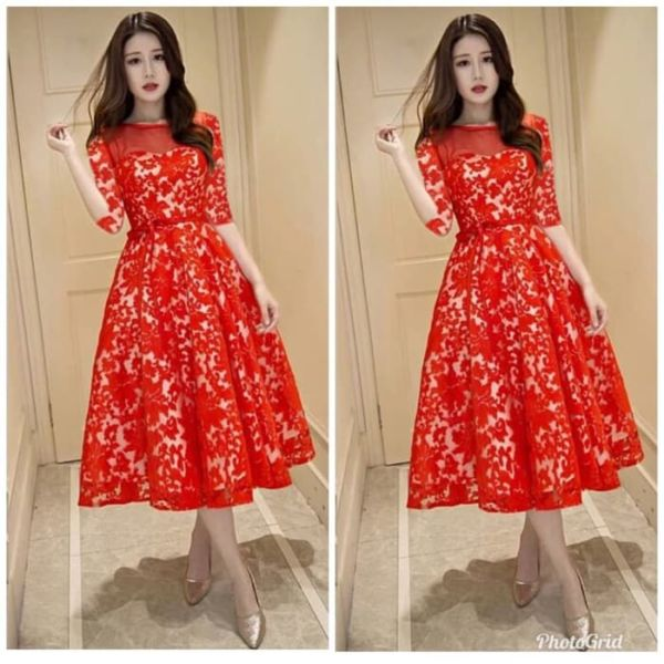 Baju Dress Pendek Bahan Brukat Cantik Model Terbaru