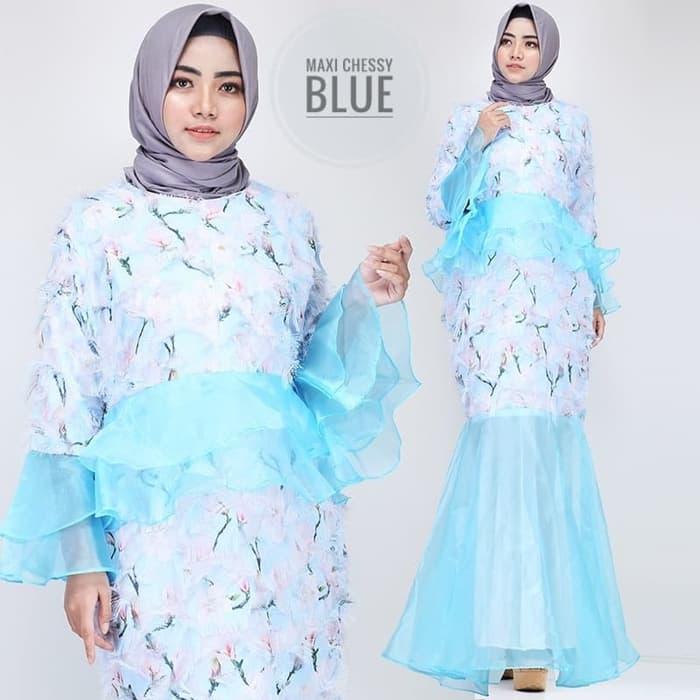 Baju Gamis Duyung Pesta Motif Cantik Model Terbaru Ryn Fashion