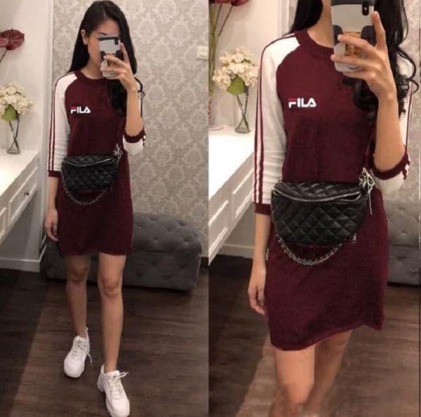 Baju Mini Dress Pendek Kaos Wanita Model Terbaru