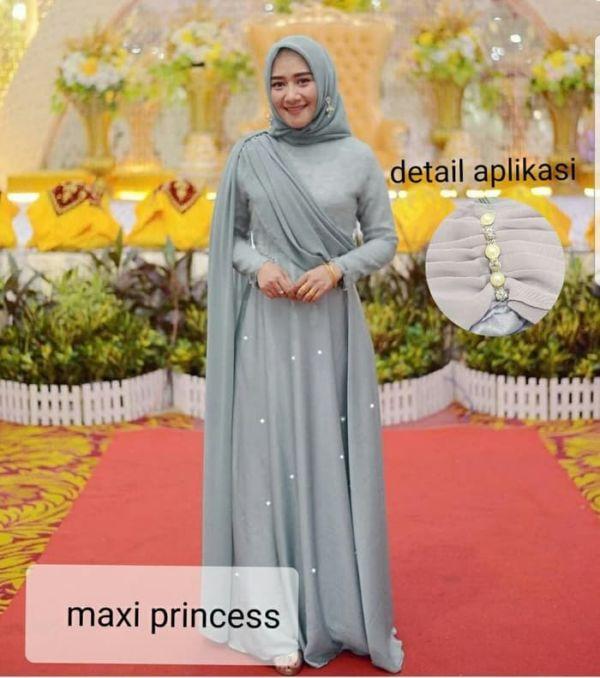 Model Baju Gamis Princess Pesta Selendang Terbaru