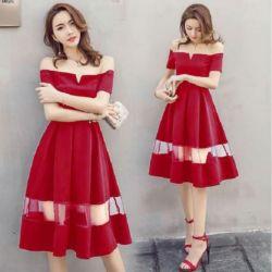 Model Baju Mini Dress Pendek Sabrina Kombinasi Tile