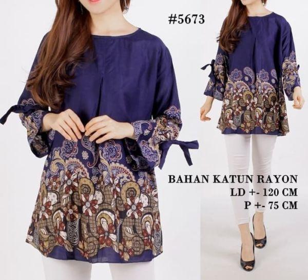 Baju Atasan Blouse Batik Ukuran Jumbo (Big Size)