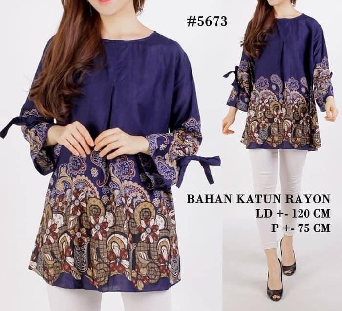 Baju Batik Wanita Ukuran Jumbo: Baju Atasan Blouse Batik Ukuran Jumbo (Big Size)