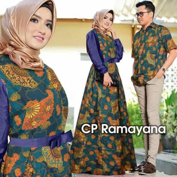 Baju Couple Gamis Batik dan Kemeja Model Terbaru