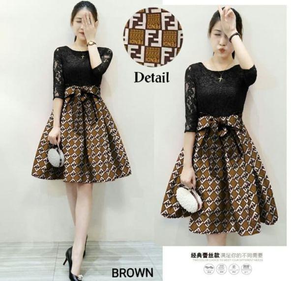 Baju Mini Dress Pendek Motif Cantik Modern