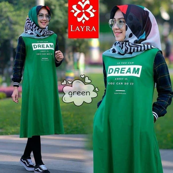 Model Baju Atasan Wanita Tunik Lengan Panjang   RYN Fashion