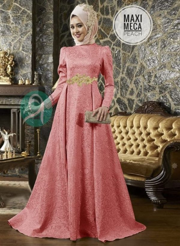 Model Baju Gamis Pesta Long Dress Muslim Modern