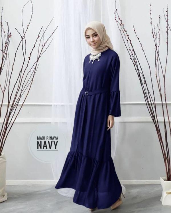 Model Baju Gamis Simple Jualan Online Lazada