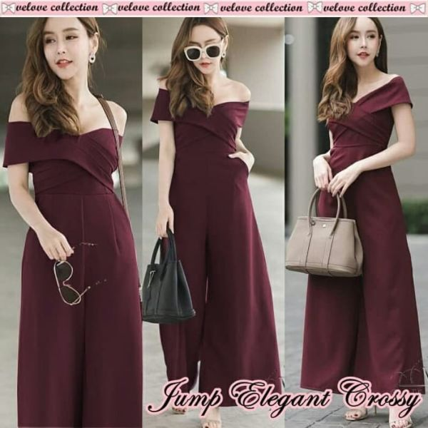 Model Baju Jumpsuit Sabrina Panjang Elegant