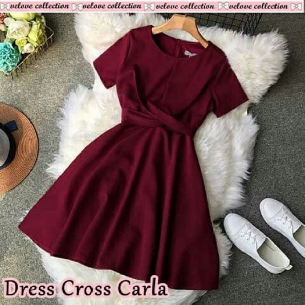 Model Baju Mini Dress Pendek Polos Terbaru
