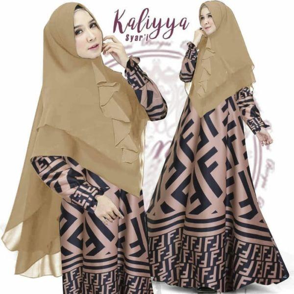 Model Setelan Baju Muslim Gamis Syari Modern Terbaru