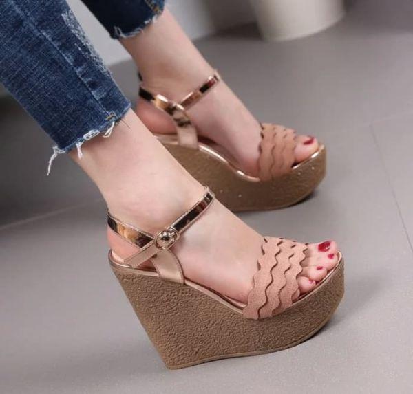 Sepatu Sandal Wedges Pesta Cantik Model Terbaru
