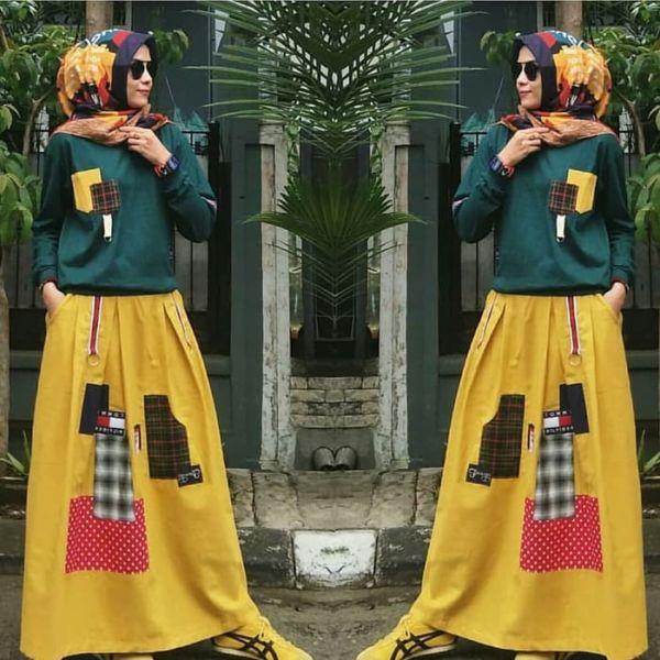 Setelan Baju dan Rok Muslim Wanita Model Terbaru