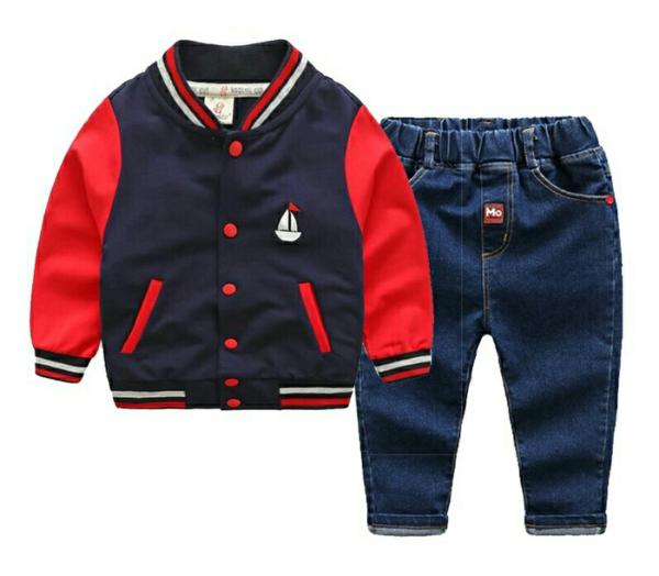 Model Setelan Jaket dan Celana Panjang Anak Pria