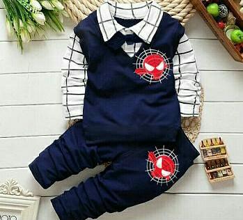 Setelan Baju dan Celana Panjang Anak Cowok