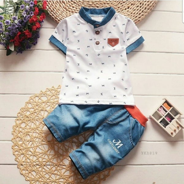 Setelan Baju dan Celana Pendek Anak Cowok Keren