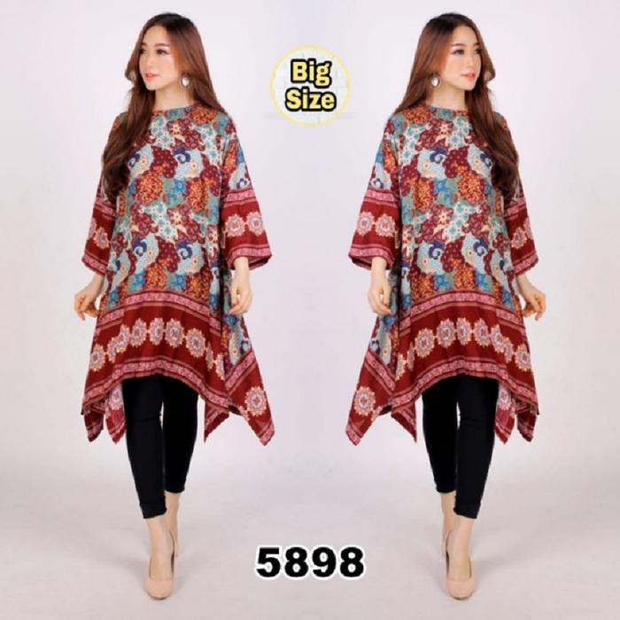Baju Batik Wanita Ukuran Jumbo: Baju Atasan Wanita Ukuran Jumbo (Big Size) Motif