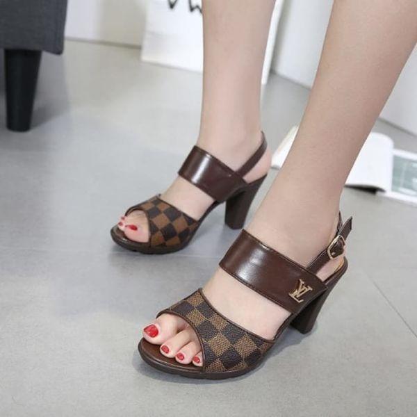 Sepatu Sandal High Heels LV Cantik Model Terbaru