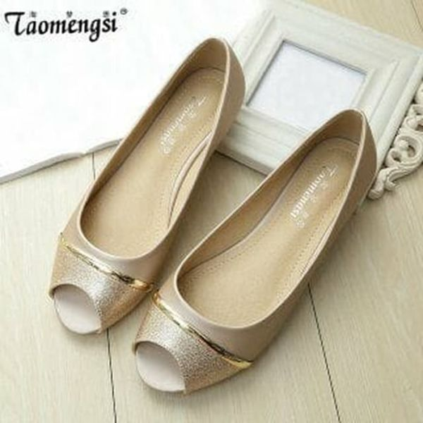 Sepatu Teplek (Flatshoes) Gliter Bolong Cantik