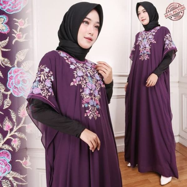 Baju Maxi Long Dress Kaftan Bordir Cantik Modern