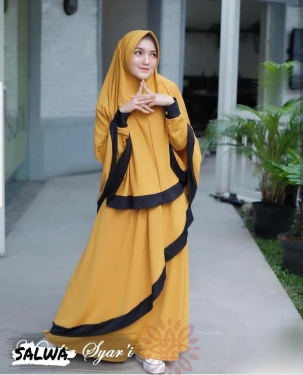 Model Setelan Baju Gamis Syari Remaja Modis Terbaru