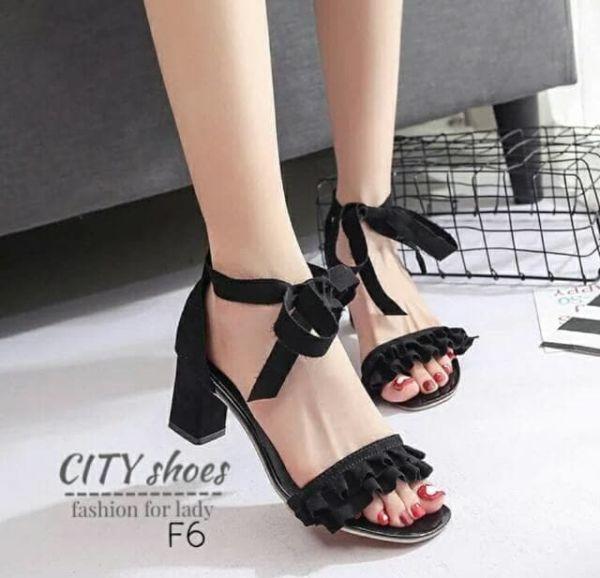 Sandal Tali High Heels Hak Tahu Cantik Model Terbaru