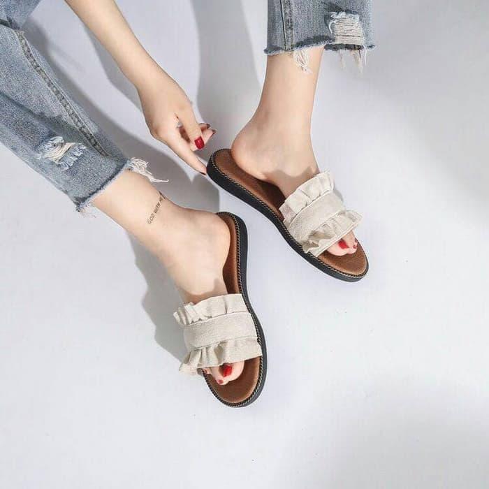 Sandal Teplek Wanita Unik Simple Model Terbaru | RYN Fashion