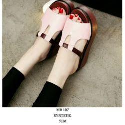 Sandal Wedges Selop Tinggi Cantik Model Terbaru