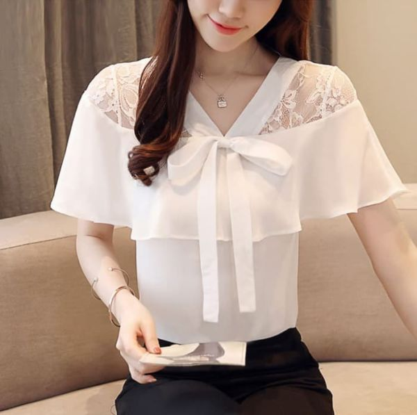 Baju Atasan Wanita Lengan Pendek Cantik Modern