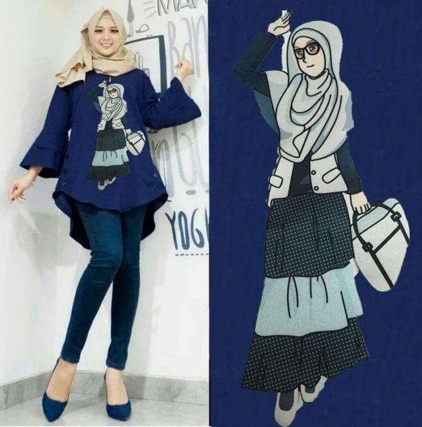 Model Baju Tunik Atasan Muslim Remaja Terbaru