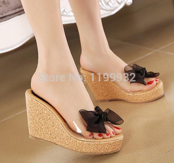 Sandal Wedges Pita (Ribbon) Cantik Model Terbaru