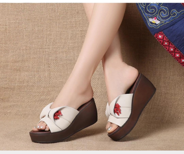 Sandal Wedges Simple Cantik Model Terbaru