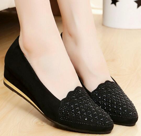 Sepatu Pantofel Wanita Model Wedges
