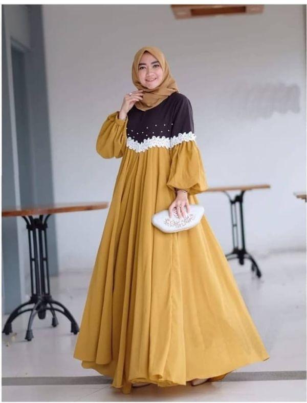 Model Baju Gamis Maxy Hijab Cantik Terbaru