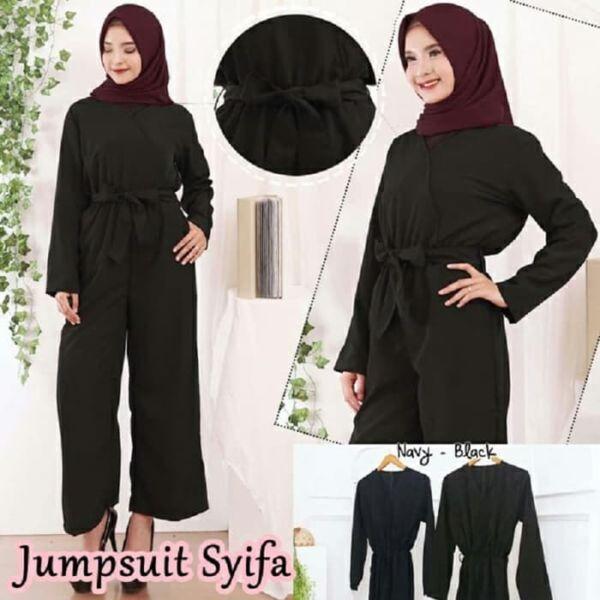 Baju Jumpsuit Lengan Panjang Muslim Model Terbaru
