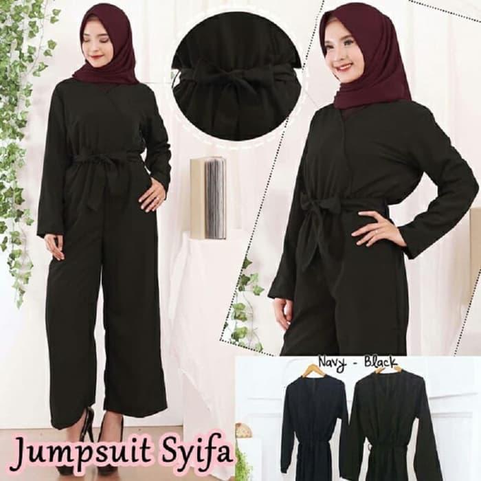 Baju Jumpsuit Lengan Panjang Muslim Model Terbaru | RYN ...