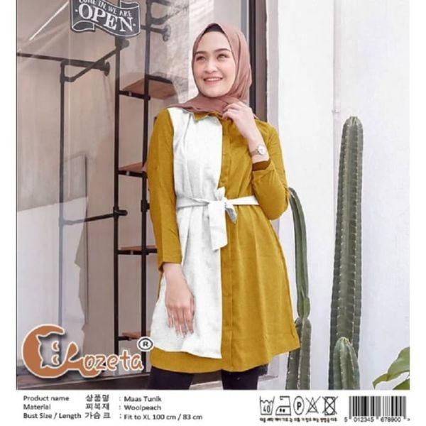 Baju Atasan Wanita Blouse Hijab Tunik Kombinasi