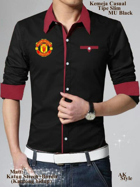 Baju Kemeja Pria Lengan Panjang Model MU