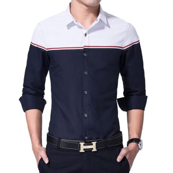 Baju Kemeja Pria Lengan Panjang Model Slim