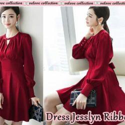 Baju Mini Dress Pendek Pita Cantik Model Terbaru