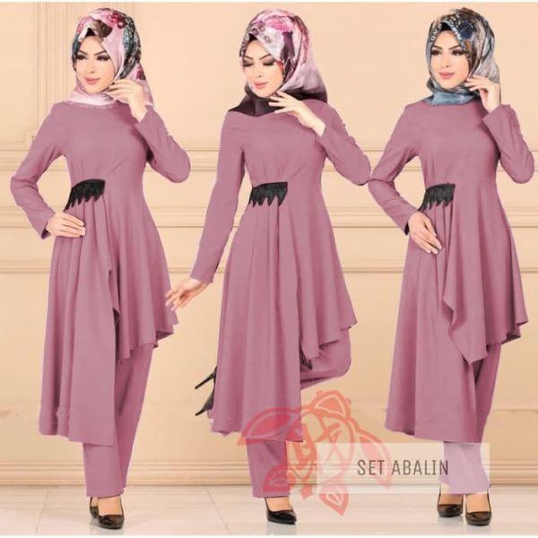 Baju Muslim Setelan Tunik dan Celana Model Terbaru