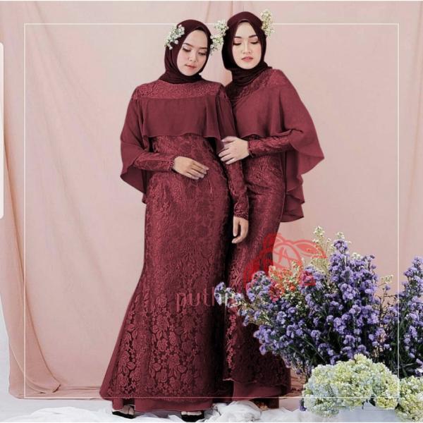 Model Baju Gamis Pesta Dress Panjang Duyung