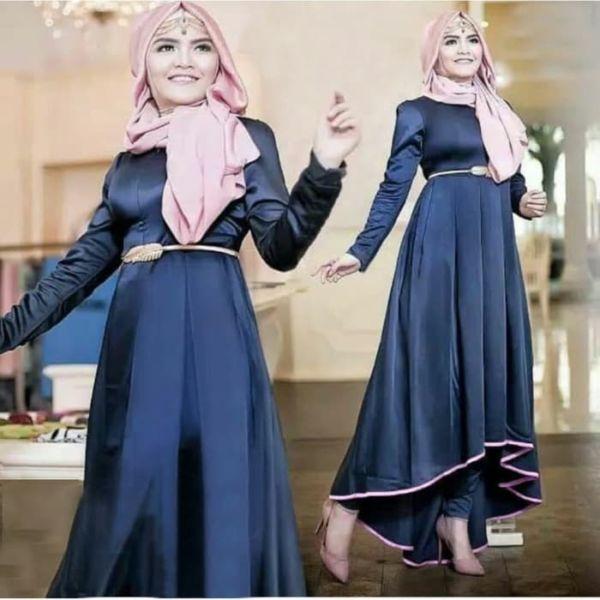 Pakaian Muslim Setelan Baju Tunik dan Celana Panjang
