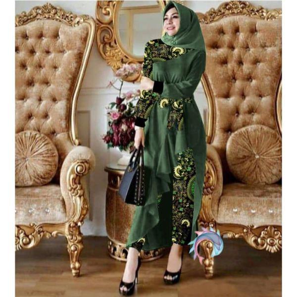 Setelan Baju Long Tunik dan Celana Panjang Batik