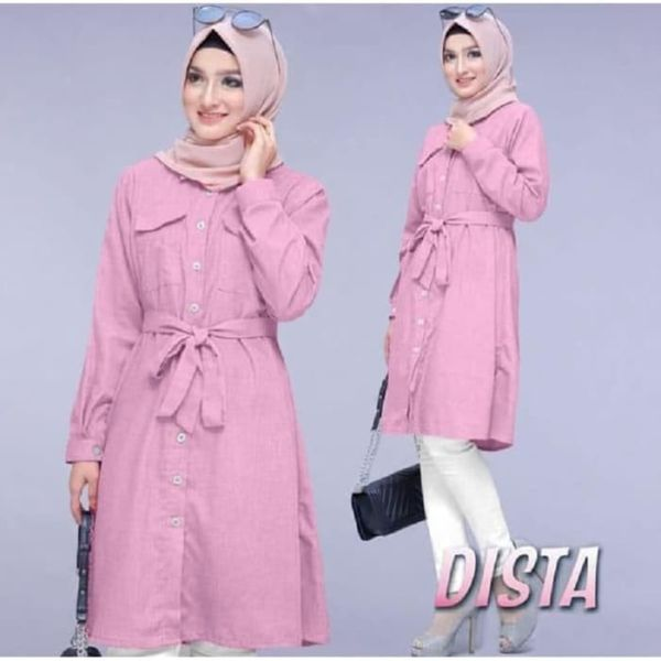 Model Baju Tunik Blouse Hijab Lengan Panjang Terbaru